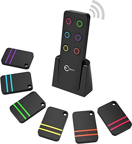 Schlüsselfinder, Esky Wireless Schlüssel Finder mit 6 Empfängern RF Item Locator,...
