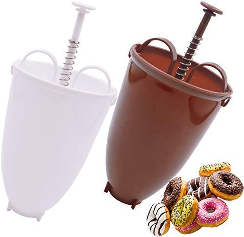 Happy Donut Maker - Donut Maker - 2 PCS Donut Backform Teigspender Tragbare Donut Maker Donut Maker Dispenser für DIY Waffel Donut Backen Werkzeug - selbstgemachtes Dessert - DIY Werkzeug Küchengebäck