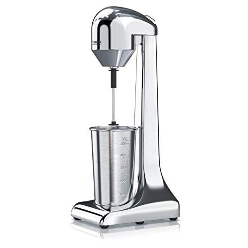 Arendo - Drink Mixer - Getränkemixer - elektrischer Standmixer - Shaker - 500 ml Becher - 100 W, 22.000 U min - 2 Geschwindigkeitsstufen - Protein Drinks Smoothies Eischnee Milchshakes Cocktails - GS