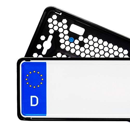 Rahmenloser PKW Kennzeichenhalter 2er Set für Deutschland und Österreich