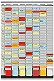 Franken PV-SET3 T-Kartentafel Office Planer (7 + 1 Index, 35 Schlitze) 47,4 x 78 cm