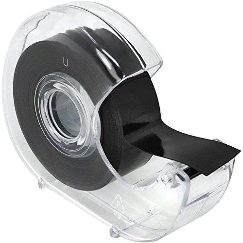 com-four® Selbstklebendes Magnetklebeband mit Abroller, Magnetstreifen für Haushalt, Arbeit oder Schule, 5 m (01 Stück - Magnetklebeband)