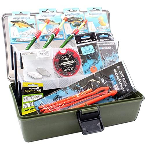 Gerätekoffer mit Angelzubehör gefüllt Grundausstattung