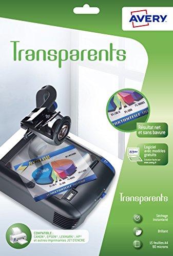 AVERY Zweckform 2503 Overhead-Folien für Inkjetdrucker (10 Transparentfolien, A4, spezialbeschichtet, stapelverarbeitbar, schnelle Farbaufnahme ohne Verschmieren und Verlaufen, Folienstärke 0,11mm)