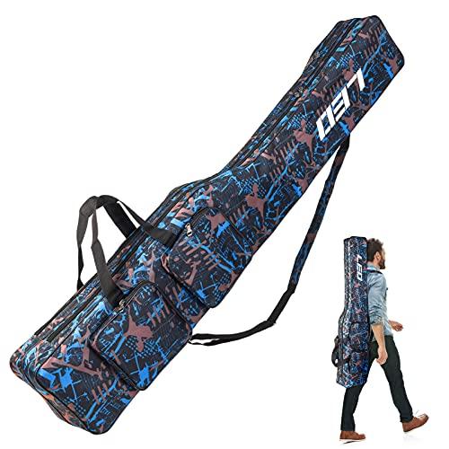 VicTop Rutentasche Rod Case Angelkoffer Falten Angeln Stange mit 2 Fächern für Angelruten, Kescher und Rutenhalter,130cm