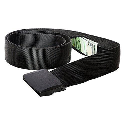 Geldgürtel mit Geheimfach Reise Gürtel mit Geldversteck (Black)
