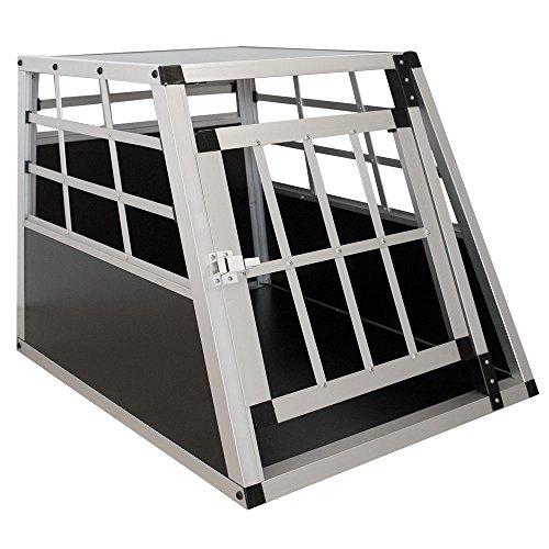 Sam´s Pet Aluminium Hundetransportbox Größe M schwarz/Silber   Alu Auto Transportbox kleine Hunde   Hundebox für PKW Kofferraum