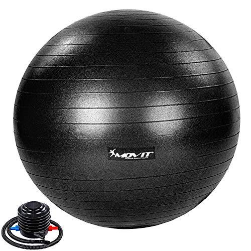 Movit® Gymnastikball »Dynamic Ball« inkl. Pumpe, 75 cm, schwarz, Maximalbelastbarkeit bis 500kg, berstsicher, Fitness-Ball, Sitzball, Yogaball, Pilates-Ball, Balance