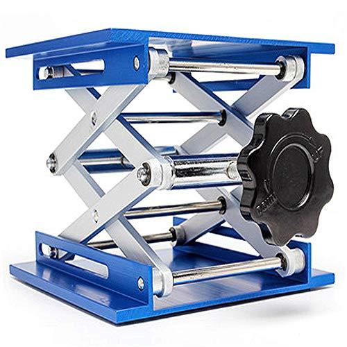 8x8'| 6x6' | 4x4' Lab Jack Edelstahl Laborhebebühne Lab Lift Edelstahl Hubtisch Labor Schere Jacks für Chemische Instrument Unterstützung Hebe - Maximale Belastung 10-25kg (4INCH)