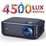 Beamer 4500 Lumen Multimedia Full HD Video-Beamer unterstützt 1080P Full HD LED 50000 Stunden mit max 200' Display, Verbindung mit HDMI VGA SD USB AV Gerät, Heimkino Projektor