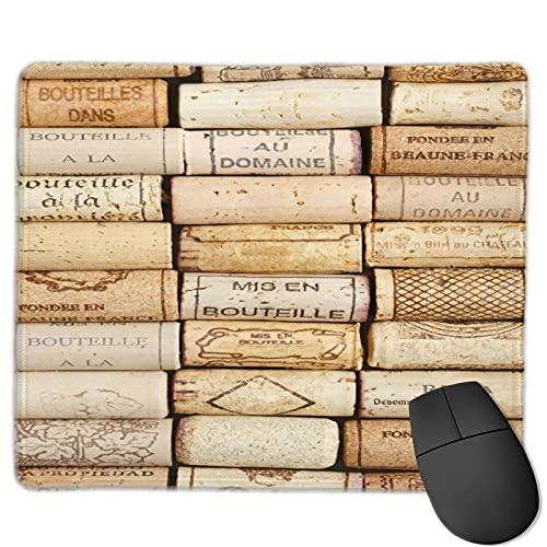 Benutzerdefinierte Office-Mauspad,Weinkorken Hintergrund, Anti-Rutsch-Gummibasis Gaming Mouse Pad Mat Desk Decor 9.5 'x 7.9'