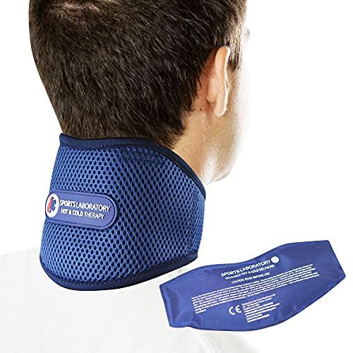 Sports Laboratory Nackenbandage bei Genickschmerzen PRO+ Integrierte Kompresse für...