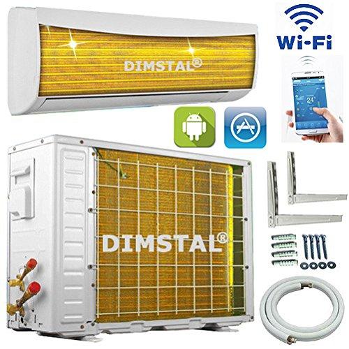 A++/A++ WiFi WLAN Golden-Fin 12000 BTU 3,5 kW Split Klimaanlage INVERTER Klimagerät und Heizung SmartHome