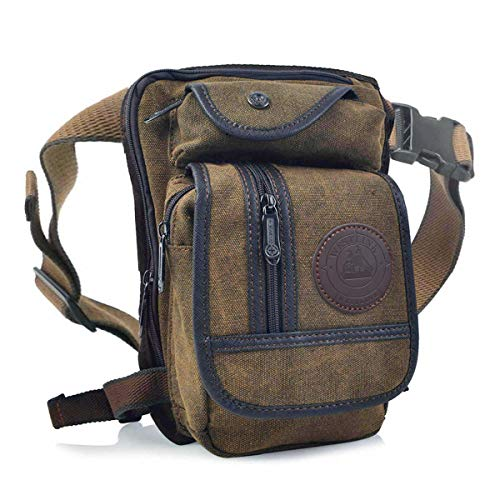 Huntforgold Herren Canvas Beintasche Hüfttasche Pack Leg Drop Utility Bag