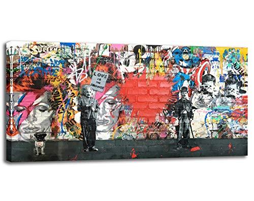 Banksy Leinwandbild, abstrakte Graffiti-Street-Art, Leinwand-Kunst, Kunstdrucke für...