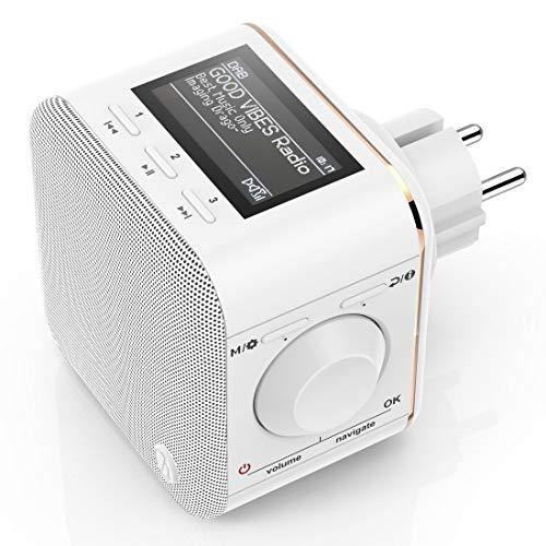 Hama 54871 Steckdosenradio DAB+/DAB Digitalradio klein (Plug in Radio mit DAB/DAB...