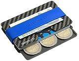 SLIMPURO Kreditkartenetui Herren mit Münzfach PICO - TÜV RFID Schutz - Carbon Slim Wallet mit CoinCard - Minimalisten Geldbeutel Geldbörse (Aluminum Münzfach 6-9 Münzen)