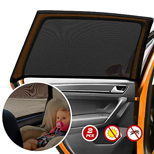 Sonnenschutz Auto, Sonnenschutz Auto Baby - Autoscheiben Sonnenschutz Kinder, Heckfenster Sonnenblenden, Geeignet für Kinder und Haustiere, Elastische, 2 Stück.