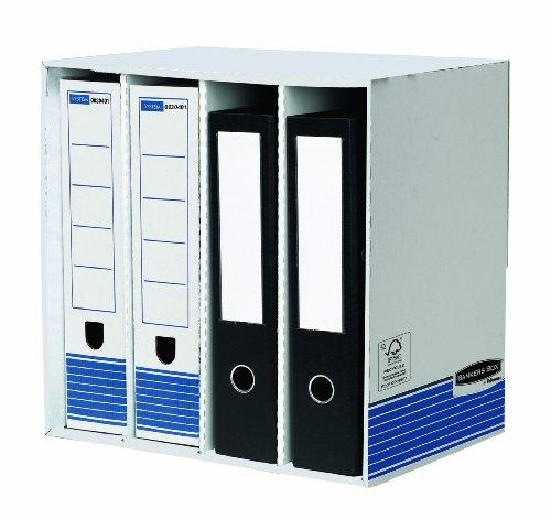 Bankers Box System Schreibtisch Organiser (4 Fächer) 1 Stück blau/weiß