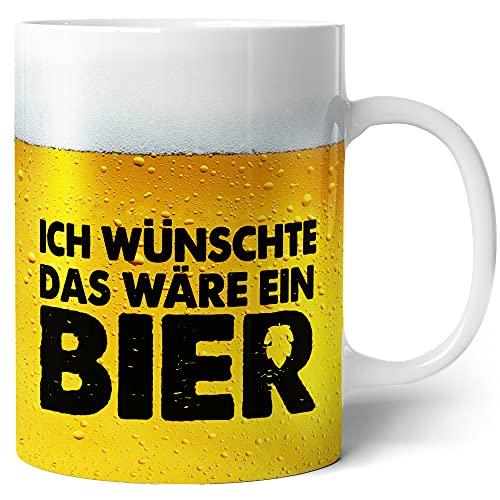 Tasse mit Bier Spruch für Männer Ich wünschte das wäre ein Bier Lustig...