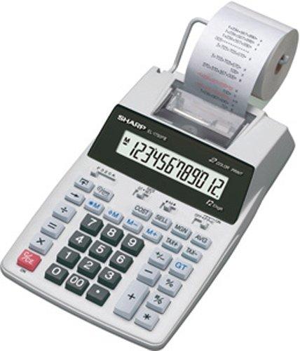 Sharp EL-1750PIII druckender Tischrechner, 12-stellige LCD-Anzeige