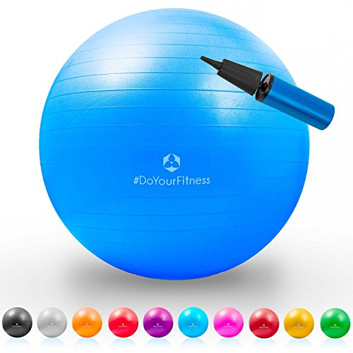 Gymnastik-Ball »Pluto« / Robuster Sitzball und Fitnessball / 85 cm/blau