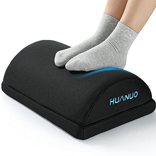 HUANUO Verstellbare Fußstütze mit 2 optionalen Fußkissen, rutschfeste Fußablage...