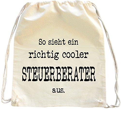 Mister Merchandise Turnbeutel Natur Rucksack So Sieht EIN richtig Cooler Steuerberater aus, Farbe: Natur