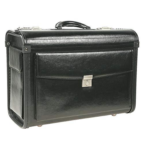 Praktisch aufgebauter Business Pilotenkoffer in schwarz