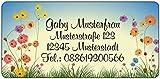 Adressaufkleber - Adressetiketten - Namensetiketten Feldblumen - 210 Stück 54 x 25 mm, 1-5 Zeilen beschriftbar