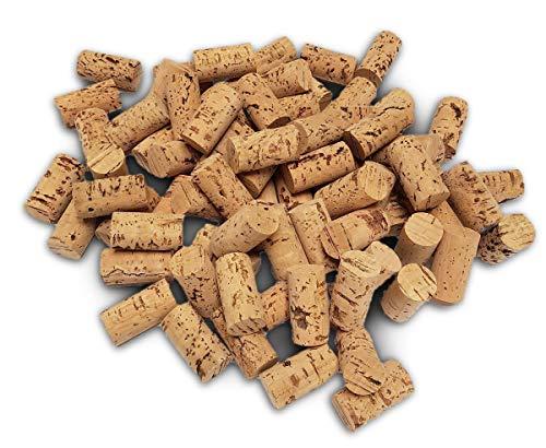 Iberia Weinkorken 100 STK Bastelkorken dunkel Karton 45x24mm Weinkorken zum Basteln und Deko -Flaschenkorken als Bastelzubehör für Kinder und Hobby Bedarf