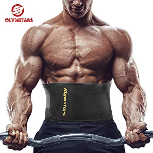 Olymstars Bauchweggürtel - 140cm Waist Trainer für Damen Herren - Waist Trimmer Beschleunigt Gewichtsabnahme, Fettverbrennung, Bauchmuskulatur, Rückenstütze -Schwitzgürtel für Übung, Laufende Training