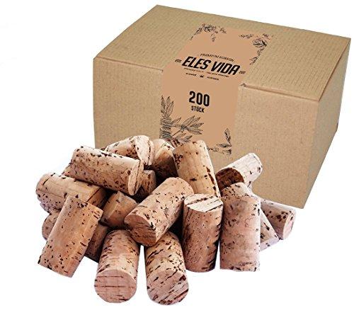 200 neuen ELES VIDA  Weinkorken geeignet zum Verkorken von Flaschen, Dekorieren, DIY und Basteln