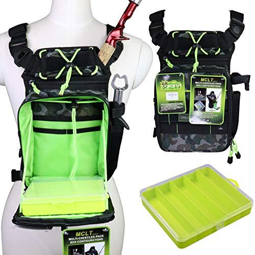 QualyQualy Angeltasche mit Angelboxen, Angeln Gerätetasche Angelzeug Tasche...