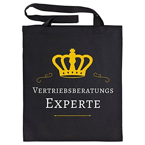Baumwolltasche Vertriebsberatungs Experte schwarz - Lustig Witzig Sprüche Party Einkaufstasche