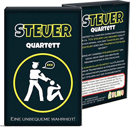 Quartett KU1337 - Steuerquartett, Das Kartenspiel für Erwachsene mit...