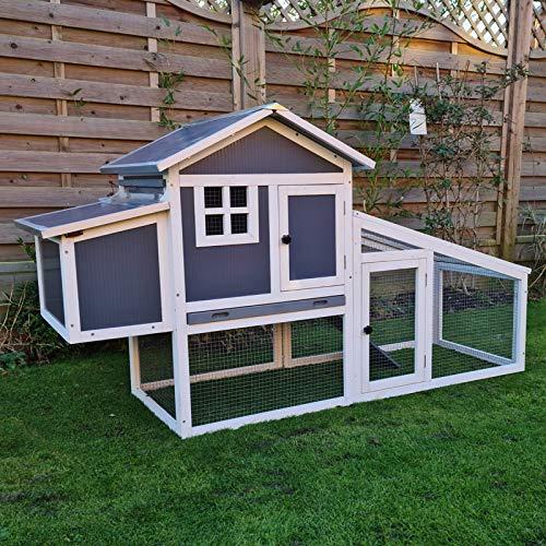 FeelGoodUK Hühnerstall aus Kunststoff und Holzmaterial für Zwerghühner und Kleintiere