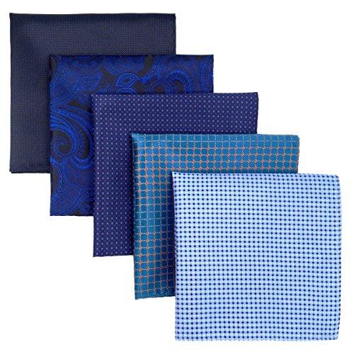Shlax&Wing 5Stück sortierte Taschentücher für Herren quadratisch Gr. Einheitsgröße Set24